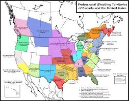 Old United States Map by The Awa Was One Of The Largest Pro Wrestling Territories Awa