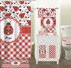 Checkered Shower Curtain Black And White by Ladybugs U0026 Gingham Shower Curtain Personalized Potty Training