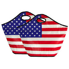 American Flag Magnet American Flag Insulated Shopping Totes Set Of 2 The Veterans Site