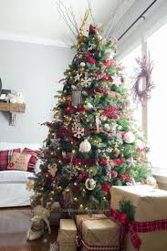 rustic trees plaid country style tree skirts