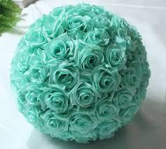 mint green flowers 6 8inch 17cm mint green flower centerpieces silk