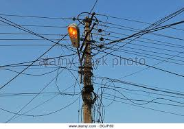 Messy Wires Electricity Post India Stock Photos U0026 Electricity Post India Stock