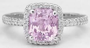 light diamond rings images Pink sapphire ring radiant cut sapphire and diamond halo in 14k jpg
