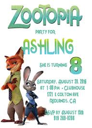monster truck invitation zootopia personalized birthday invitation 1 sided birthday card