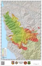Map Of California Fires Soberanes Fire Progression Map Big Sur California