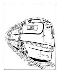 Pictures Of Trains To Color Many Interesting Cliparts Rail Color Page