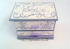 girl jewelry box personalized personalized jewelry box grey gray lavender damask