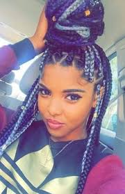 grey and purple combined together style box breads senegalese twist gray google search hair pinterest