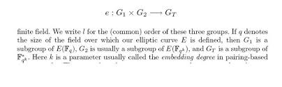 bilinear map a question about elliptic and finite fields in bilinear