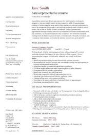 resume skills and abilities sles resume sle for sales representative gallery creawizard com