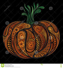 halloween black background pumpkin beautiful colored vector pumpkin patterns halloween stock vector