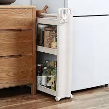 narrow storage cabinet for kitchen 3 tier multi functional slim storage cart narrow space