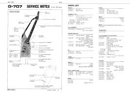 roland g 707 service manual parts catalog schematic