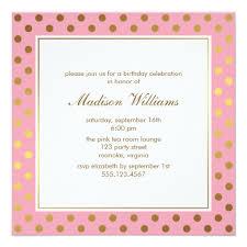 polka dots invitations pink faux gold foil polka dots pattern invitation ladyprints