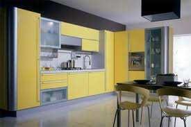 Grey And Yellow Kitchen Ideas Divine Yellow Color Small Kitchen Cabinets With Grey Color Granite