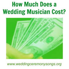 how much do wedding djs cost how much does a wedding ceremony musician cost wedding ceremony