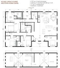 cottage floor plans with loft 40 x 60 pole barn house plans best floor plans with various type
