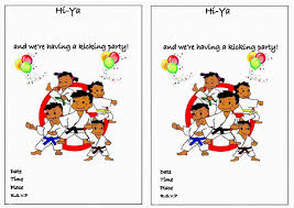 karate birthday invitations u2013 birthday printable