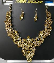 gold stone necklace images Golden stone necklace m s eminence traders kalyan id 15171054897 jpg
