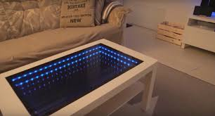 coffee tables that turn into tables how i transformed an ikea table into an infinity mirror coffee table