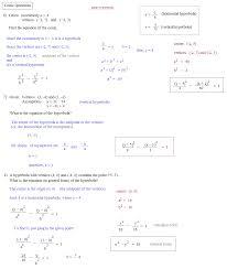 math plane conics iii review properties