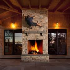 Sided Outdoor Fireplace - indoor outdoor fireplace ideas modern fireplace design for