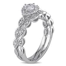 infinity wedding band 0 51ctw diamond infinity design engagement ring and wedding band