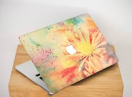 sunny flowers case for laptop floral macbook case 12 inch cover