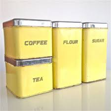 yellow kitchen canisters set of 4 tin kitchen canisters the line by e r lite i