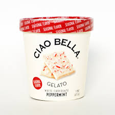ciao bella white chocolate peppermint gelato best holiday snacks