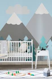 kids mountains and trees wall mural mountain wallpaper modern kids mountains and trees wall mural murals wallpaper