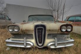 auto junkyard texas image detail for vintage edsel car near south main street