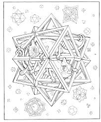 printable geometric pattern coloring pages adults animal