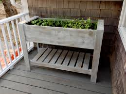 Raised Patio Planter by Dark Brown Wooden Raised Planter Box Plans For Small Plants