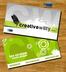 Studio Visiting Card Design Psd Green Creative Business Card Psd
