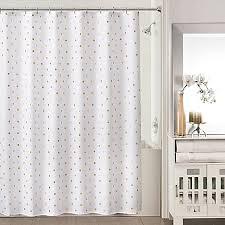 White Shower Curtain Sophia Shower Curtain In Gold White Bed Bath U0026 Beyond