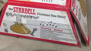the starbell revolving musical tree stand