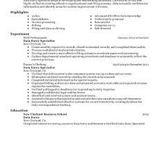Computer Savvy Resume Data Entry Resume Data Entry Coordinator Resume Sample