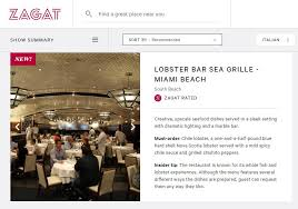 zagat names lobster bar sea grille one of the hottest restaurants