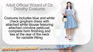 dorothy from wizard of oz costume official wizard of oz dorothy costume youtube