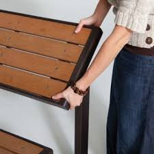 Lifetime Glider Bench Faux Wood Convertible Bench