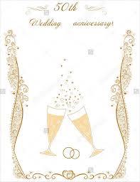 50th wedding anniversary program templates 8 wedding event program templates psd vector eps ai
