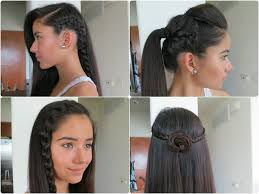 easy indian hairstyles for school displaying images for easy braided hairstyles beginners medium