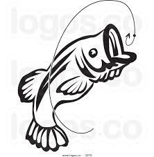 bass fish clip art black and white clipart panda free clipart
