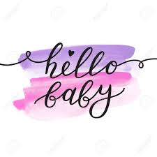hello baby shower hello baby vector lettering baby shower card template royalty