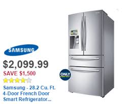 black friday appliance deals at best buy samsung 28 2 cu ft 4 door french door smart refrigerator with