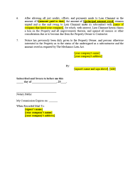 waiver of lien template sle lien form non material suppliers 2 jpg