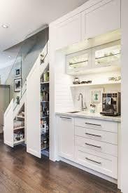 kitchen room coffee bar with under stair storage modern new 2017