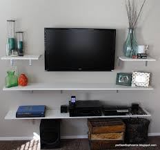 Computer Desk Tv Stand Combo by Best 25 Tv Shelving Ideas On Pinterest Floating Wall Shelves