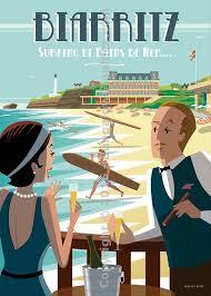 bureau de change biarritz biarritz bains de mer poster frames basque travel